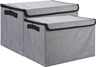 YXKA Boîtes de Rangement Pliables de Grande capacité Tissu Paniers de Stockage de Tissu Conteneurs Organisateur de contene...