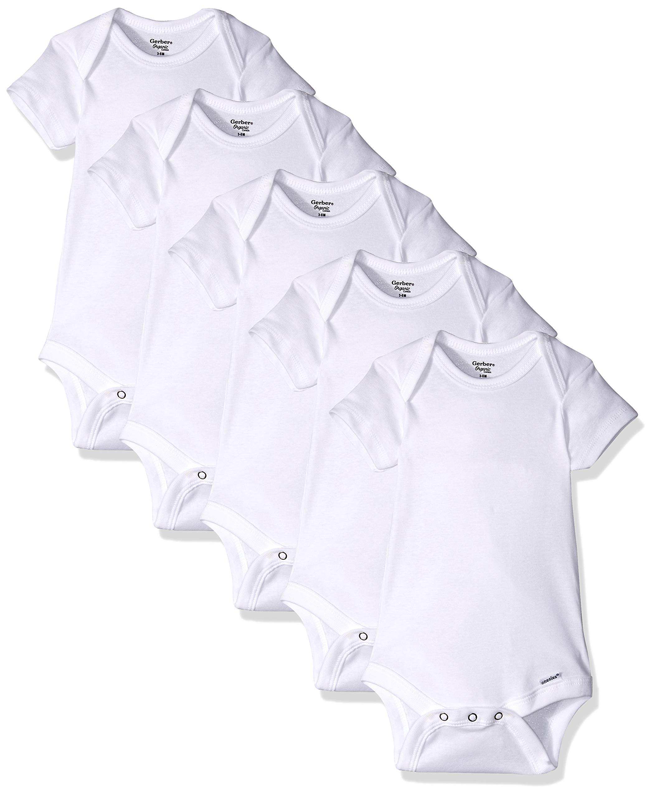 Gerber Organic Short Sleeve Onesies Bodysuit