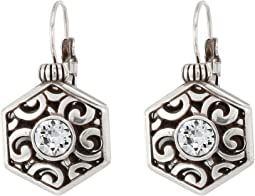 Brighton Deco Solitaire Leverback Earrings