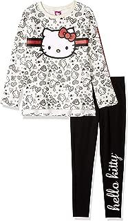 Hello Kitty Girls' Big 2 Piece Legging Set, Cream/Red, 7