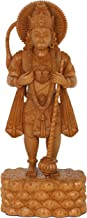 Lord Hanuman Showing Rama and Sita in His Chest - Wood Statue
