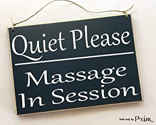 Prim and Proper Decor Quiet Please Massage In Session 8x6 (Choose Color) Custom Rustic Shabby Chic Wood Sign
