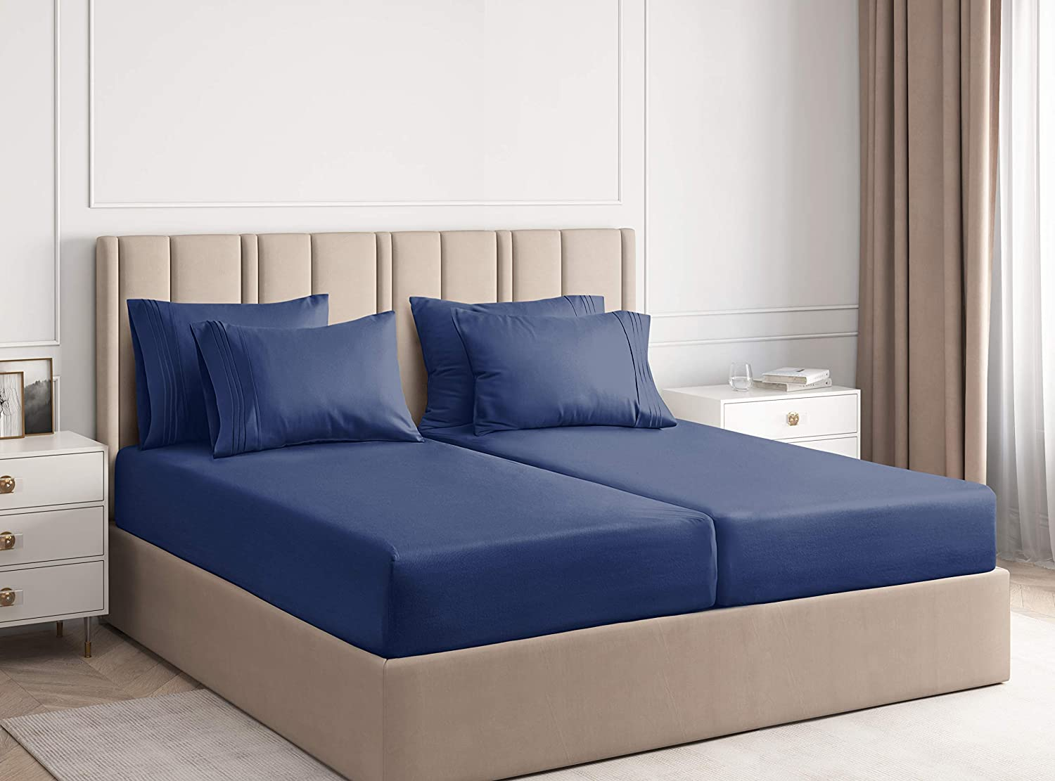 Split King Size Sheet OFFicial site Set - New products world's highest quality popular Bed Luxury Hotel Piece 7