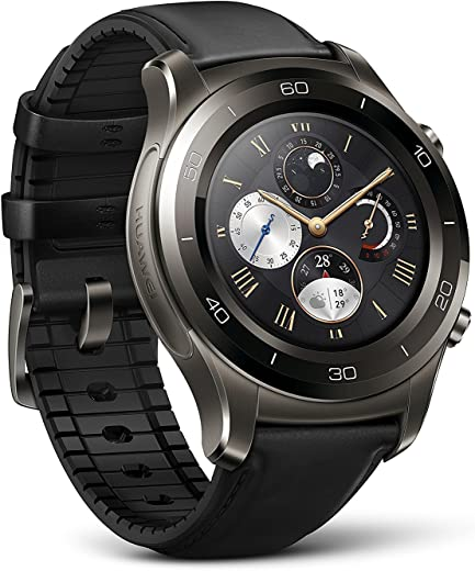 Huawei Watch 2 Classic Smartwatch - Ceramic Bezel- Black Leather Strap(Us Warranty)