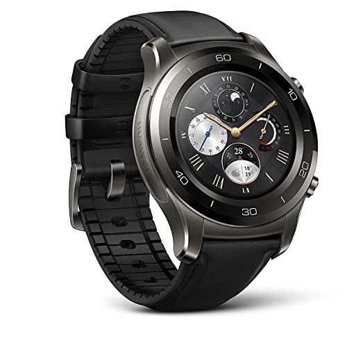 c1c791b0631b17 Huawei Watch 2 Classic Smartwatch - Ceramic Bezel- Black Leather Strap(US  Warranty)