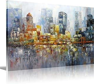New York City Palette Knife Art Brooklyn Bridge Oil Painting HD Picture Print Wall Art Modern Giclee Artwork Home Decor St...