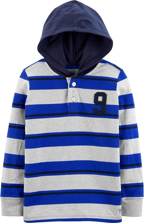 OshKosh B'Gosh Boys' Little Hooded Rugby Top