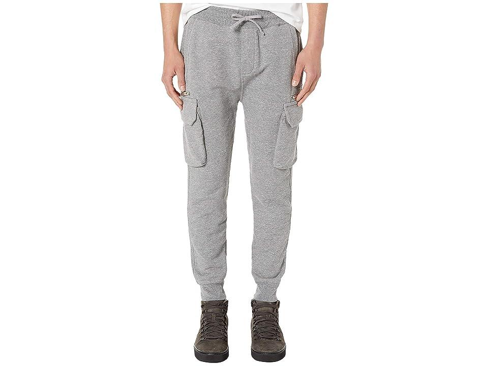 The Kooples Fleece Cargo Pocket Joggers (Grey) Men