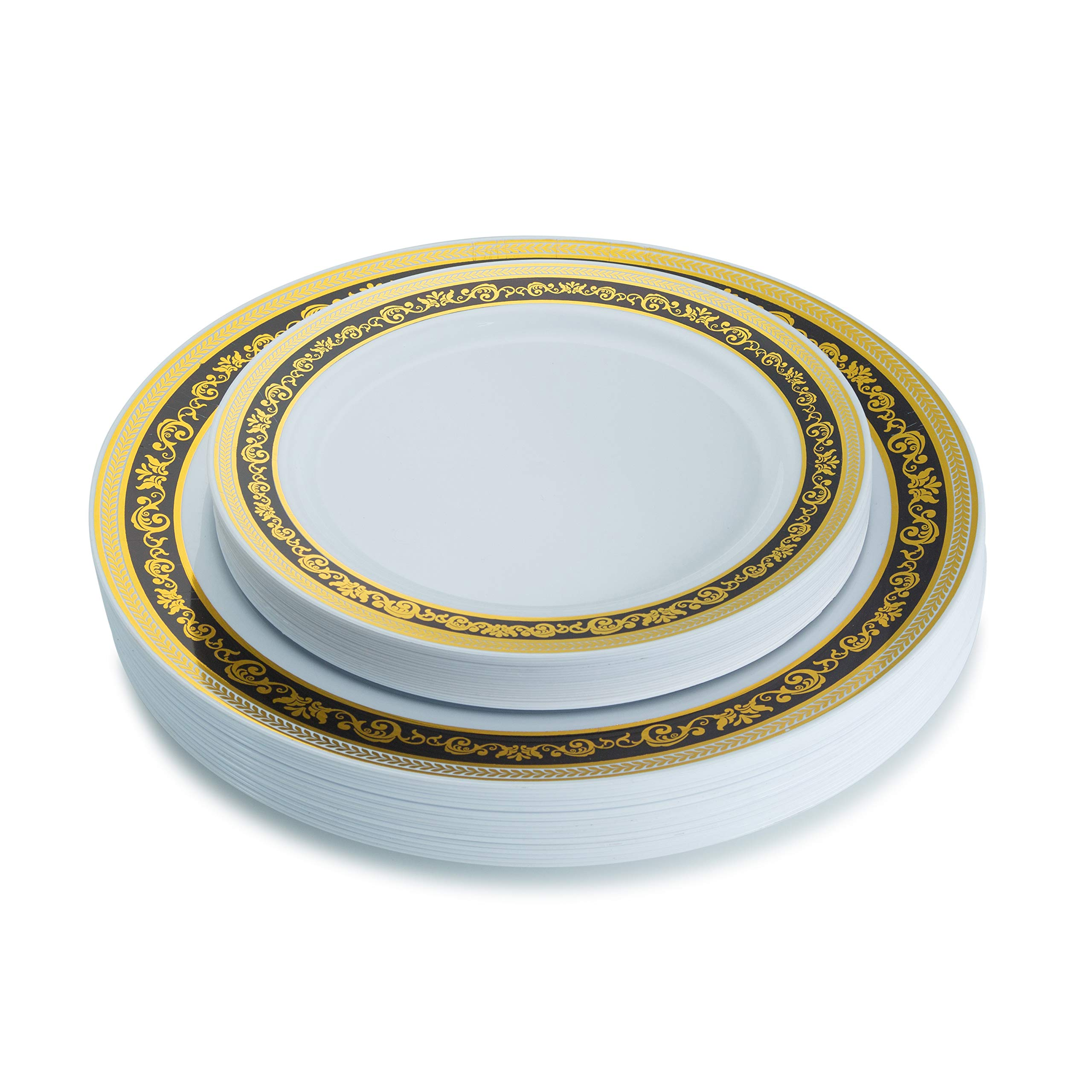 In Posh Setting Lace Collection Combo Pack China Look White//Gold Plastic Plates