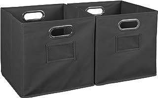 Niche Cubo Foldable Fabric Storage Bin, Set of 2, Grey