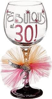 Mud Pie 119094 Wine Glass, 11.6H X 4.525L X 5.5W, Fabulous