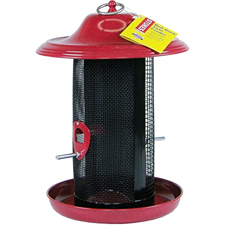 Stokes Select Snacks /'N Treats Red Metal Tube Bird Feeder 38281-1 Each