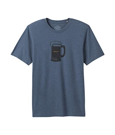 Prana Beer Belly Journeyman T-Shirt (Denim Heather) Men