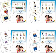Yo-Yee Flashcards Bundle - 4 Sets of Adjectives, Antonyms and Opposites Flash Cards - Vocabulary Picture Cards for Babies, Toddlers 2-4, Kids, Children and Adults