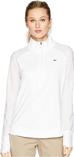 Pieced Sport 1/2 Zip Pullover