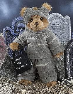 Bearington Morty Mummy, Plush Stuffed Animal Halloween Teddy Bear, 11 inches