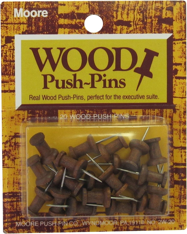 Moore Holz Head Push Pin, Pin, Pin, warm Walnuss, 20 Pro Karte (2 W-20-ww) B0096YOSSQ | Günstigen Preis  42d0f5