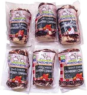 Montechevre Goat Cheese, Cranberry Cinnamon, 4 Oz (Pack Of 6)