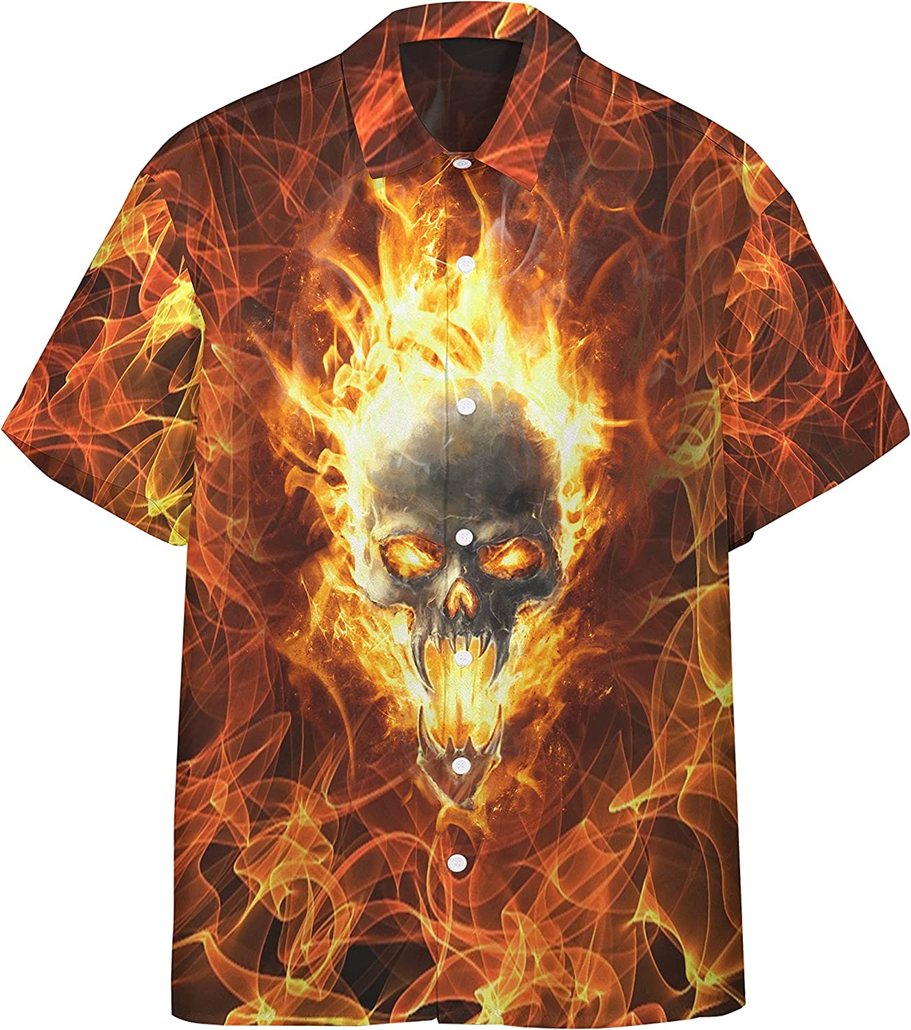 San Francisco Mall XStyles18 3D Flaming Super intense SALE Skull find fire Custom Shirt Your Hawaii