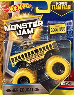 Hot Wheels 2017 HIGHER EDUCATION 3/4 COLOR TREADS MONSTER JAM TRUCK CASE K New