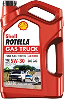 Shell Rotella Gas Truck Full Synthetic 5W-30 Motor Oil for Pickups and SUVs (5-Quart, Pack of 1)