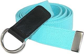 CTM Plus Size Cotton Web Belt with Double D Ring Buckle