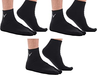 3 Pairs Combo V Toe Thicker Athletic Tabi Flip Flop Sports Socks Crew Or Ankle Mens And Womens