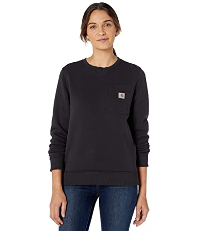 Carhartt Clarksburg Crew Neck Pocket Sweatshirt (Black) Women