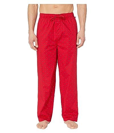 Tommy Hilfiger Poplin Sleep Pants (Mahogany) Men