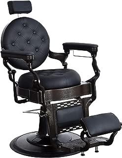 BarberPub Vintage Barber Chair Heavy Duty Metal Frame All Purpose Hydraulic Recline Salon Beauty Spa Equipment 2947
