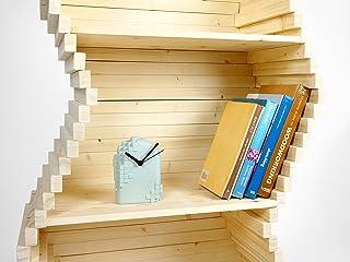 Libreria Wave - scaffalature mobili libere da appoggio per scaffali mobili in legno per scaffali accessori per scaffali da...