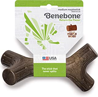 Benebone Maplestick/Bacon Stick Durable Dog Stick Chew Toy, Made in USA