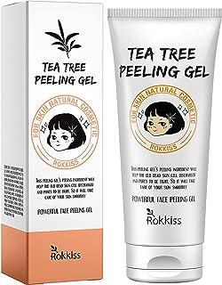 ژل لایه بردار درخت چای Rokkiss 4.05 اونس - لایه بردار صورت ، اسکراب لایه بردار صورت ، لایه بردار ملایم کره ای برای انواع پوست ، ژل پاک کننده پوست مرده برای صورت