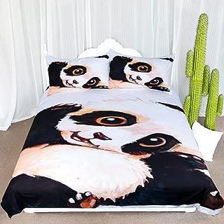 ARIGHTEX Sleep Panda Bedding Vintage Panda Bear Duvet Cover Wildlife Bed Sets 3 Pcs Animal Bedding for Teens (Twin)