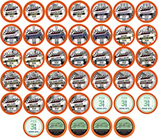 Two Rivers Decaf Coffee Pods, Compatible with 2.0 Keurig K-Cup Brewers, Variety Pack, 40 Count