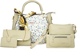 Shining star Women PISTA Hand-held Bag (Pack of: 5)