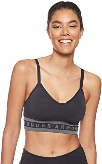 Under Armour Women's Seamless Longline Bra, Black