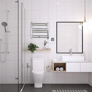Valdern - Toallero eléctrico precargado, 450 mm (ancho) x 406 mm (alto) - 150 W, calentador de toallas (cromado)