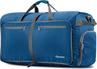 Gonex 100L Foldable Travel Duffel Bag for Luggage Gym Sports, Lightweight Travel Bag with Big Capacity, Water Resistant (Deep Blue)