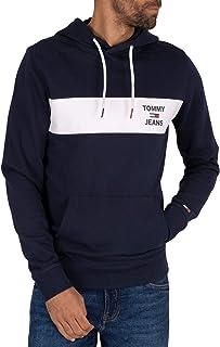 Tommy Hilfiger Jeans, Essential Graphic Hoodie, Blu, TMH_DM0DM08133C87