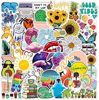 Waterproof Vinyl Vsco Girl Decal Stickers Aesthetic 50 Pack Cute Stickers Individual for Boys Teens Kids Girls Stick to Hy...