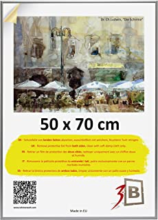3B ALU Poster Brushed - 50x70 cm (B2) (ca. 20x28) with