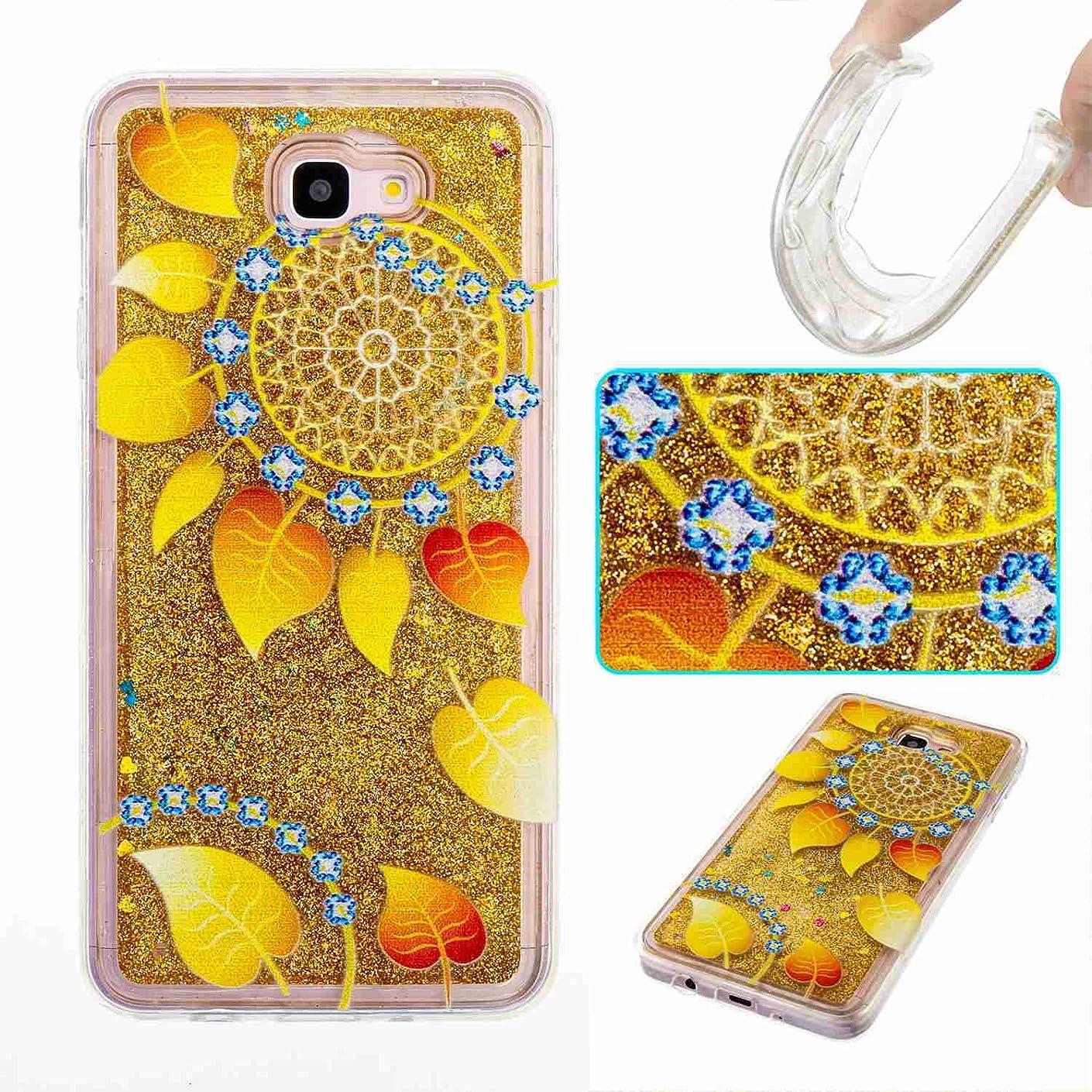 Samsung Galaxy J7 V Case/Galaxy J7 Perx Case/Galaxy J7 Sky Pro / J7 Prime/Galaxy Halo / J7 2017 Case, UZER Bling Quicksand Moving Flowing Floating Twinkle Glitter Shining Sparkle Liquid Case