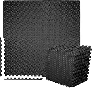 BEAUTYOVO Puzzle Exercise Mat with 12/24 Tiles Interlocking Foam Gym Mats, 24'' x 24'' EVA Foam Floor Tiles, Protective Fl...