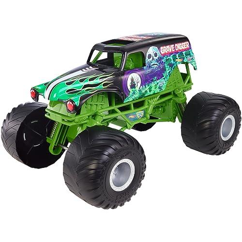 aeb068f710262 Hot Wheels Monster Jam Giant Grave Digger Truck