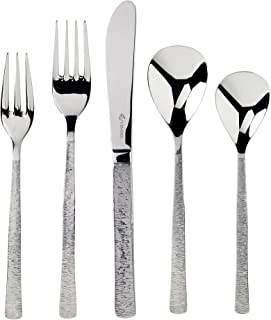 Viners Studio Pattern 18/10 Stainless Steel Cutlery Set With Gift Box; Unique Textured Effect Popular Since the 1960's; Perfect Weight and Balance; 20-Piece Set; 4 Place Settings