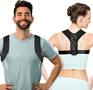 Aussiefascino Posture Corrector for Men and Women - Back Brace for Clavicle Support - Relives Neck & Shoulder Pain - Adjus...