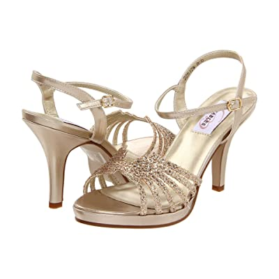 Touch Ups Leah by Dyeables (Champagne Glitter) High Heels