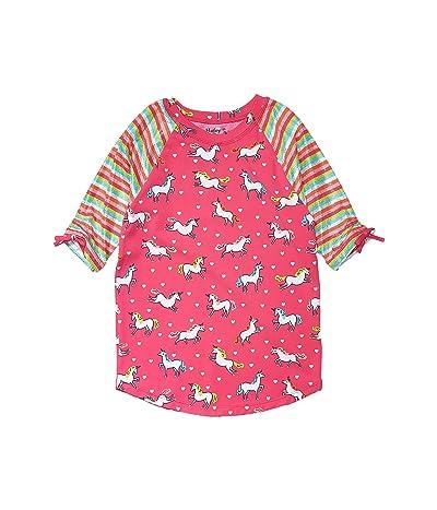 Hatley Kids Prancing Unicorns Short Sleeve Rashguard (Toddler/Little Kids/Big Kids) (Pink) Girl