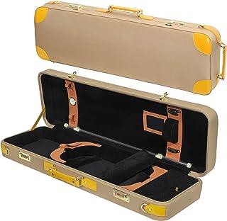حقيبة سفر MI&VI Deluxe Hardwood Violin 4/4 (حجم كامل) مع مقابض جلدية   أحزمة كتف قابلة للتعديل   عزل حراري   شكل مستطيل   ...